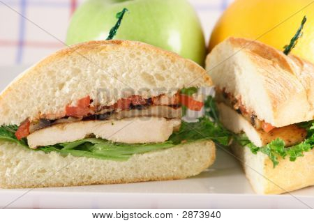 Halved Chicken Sandwich