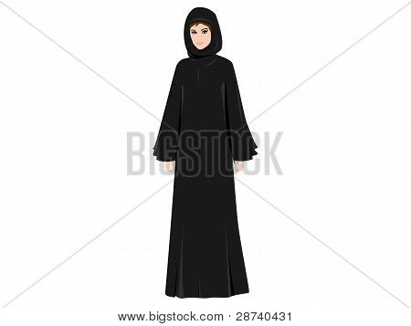 Arab Woman in Abaya