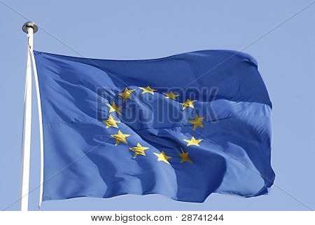 Denmark_european Union Flag