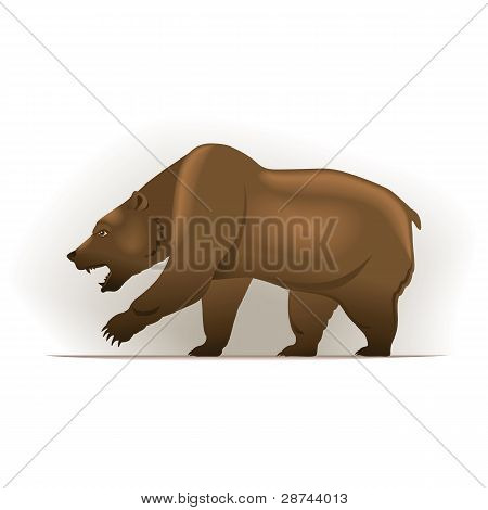 Bear vector illustration, financial theme