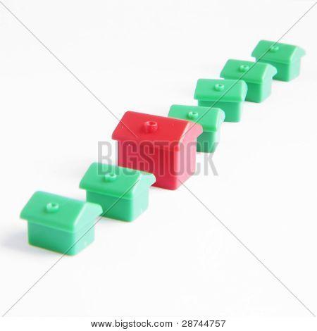 Houses On White
