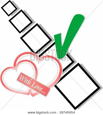 valentine day or wedding - check list Symbol