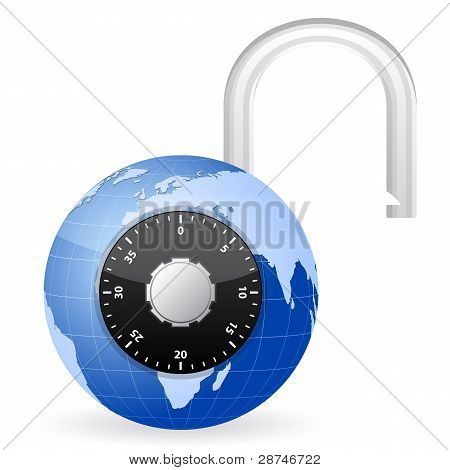 Open World Globe Padlock