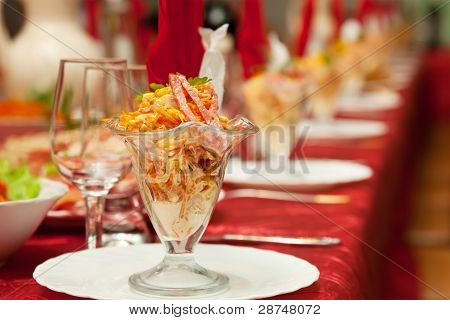 Served For A Banquet Table.