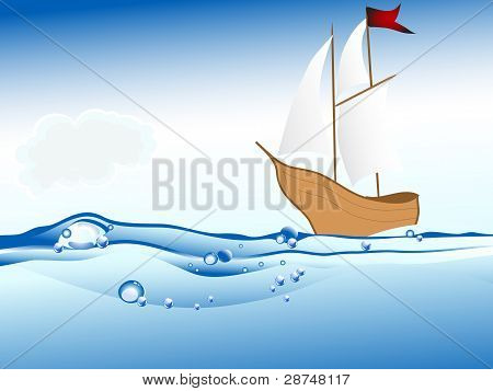 Ship On The Sea Level