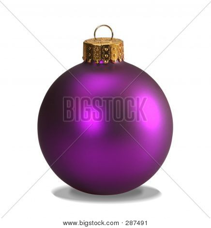 Purple Ornament With Clipping Path