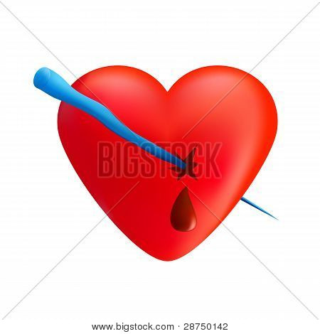 Heart With Icicle