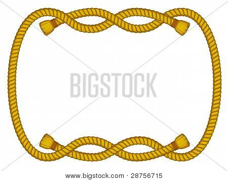 rope frame isolated on white