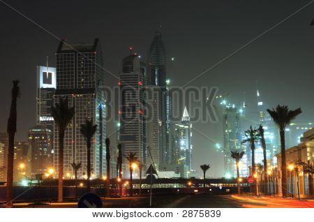 Skyline de Dubai à noite