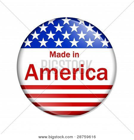 Made In The America Button