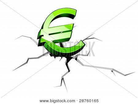 Euro Money Down
