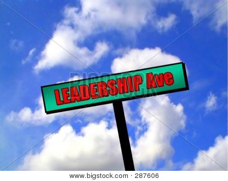 Sign - Leadership Avenue