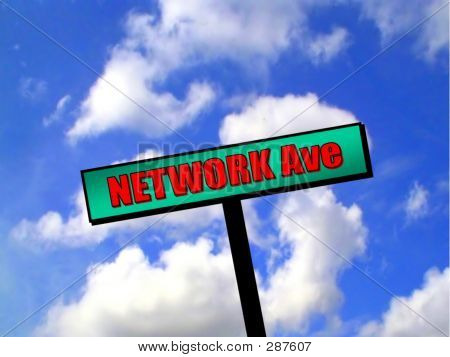 Sign - Network Avenue