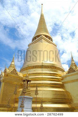 Golden Chedi At Wat Phra Keaw