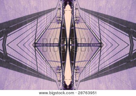 shawdow art - purple lattern