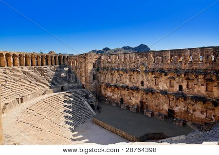 Old Amphitheater Aspendos In Antalya, Turkey