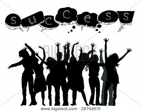 Successful People Silhouettes