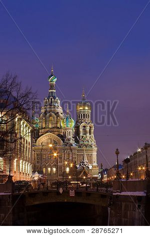 Temple Of The Resurrection Of Christ In St. Petersburg