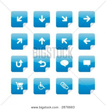Blue Glossy Stickers