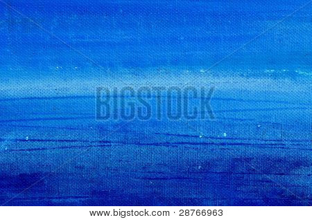 Blue Acrylic Painted Canvas Background
