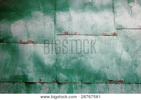 Green Metal Wall