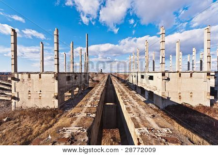 Building Of An Industrial Complex In Degradation