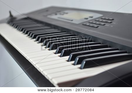 Closeup Of Synthesizer Keyboard