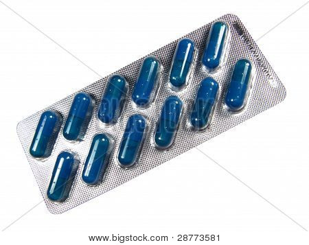 Box Of Pills, Isolated In White