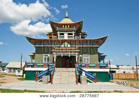 Building Exterior Of Buddhist Monastery