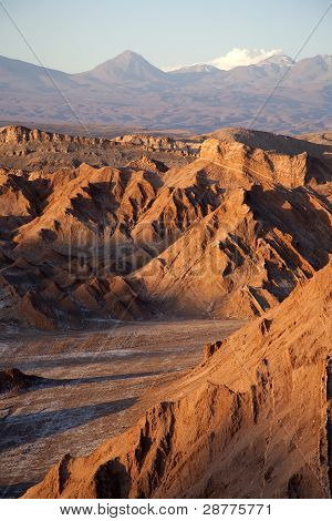 Moon Valley in Atacama desert