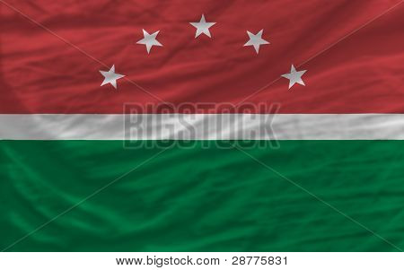 Complete Waved National Flag Of  Of Maghreb For Background