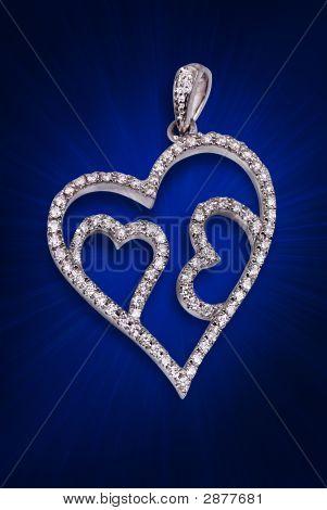 A Silver Diamond Pendent