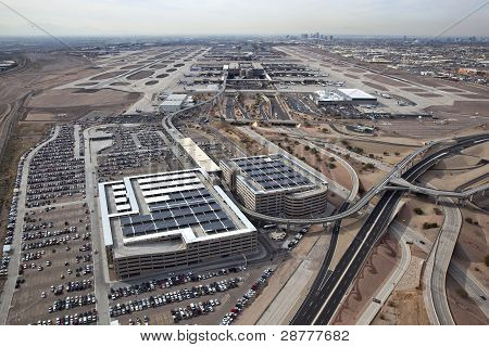 Parking Garages And Busy Airport