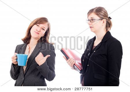 Business Women Colleagues Rivalry