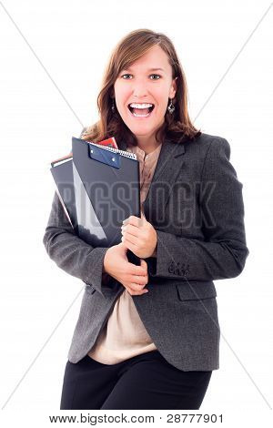 Happy Excited Business Woman