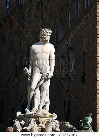 Fountain of Neptune by Bartolomeo Ammannati in the Piazza della Signoria Florence