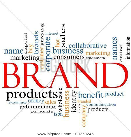 Brand Word Cloud Concept
