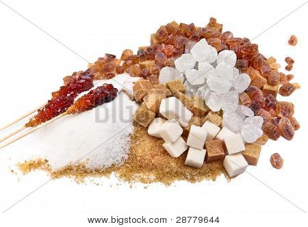 Granulated sugar sugar not refined sugar candy white and brown -allsorts