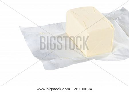 unwrapped pound of butter
