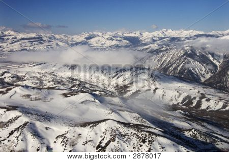 Snow Covered Mountains.
