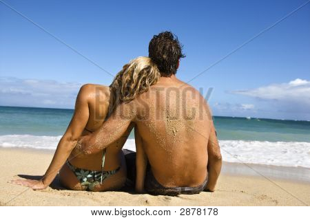 Woman Leaning On Man.