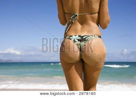Woman In Bikini.