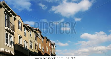 Houses And Clouds