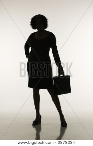 Businesswoman Silhouette.