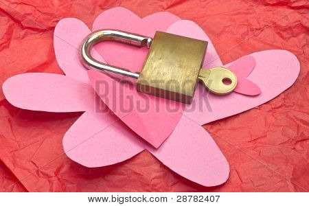 Hearts With Lock And Key