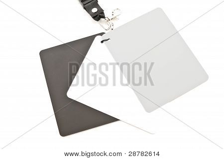 Gray, White And Black White Balance Photography Cards