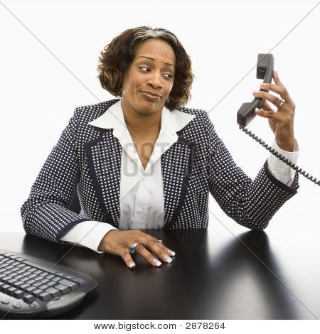 Annoyed Businesswoman.
