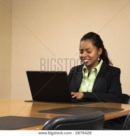 Businesswoman With Laptop.