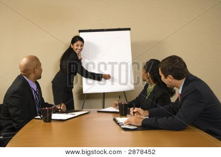 Businesswoman Doing Presentation.