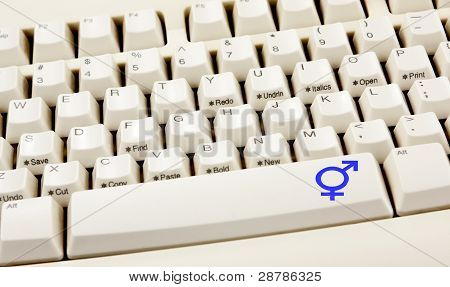 Transgender White Keyboard